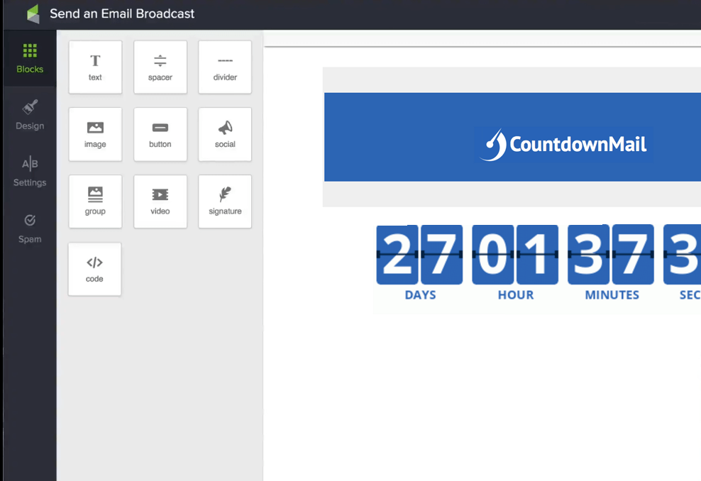 Include countdown timers in infusionsoft campaigns