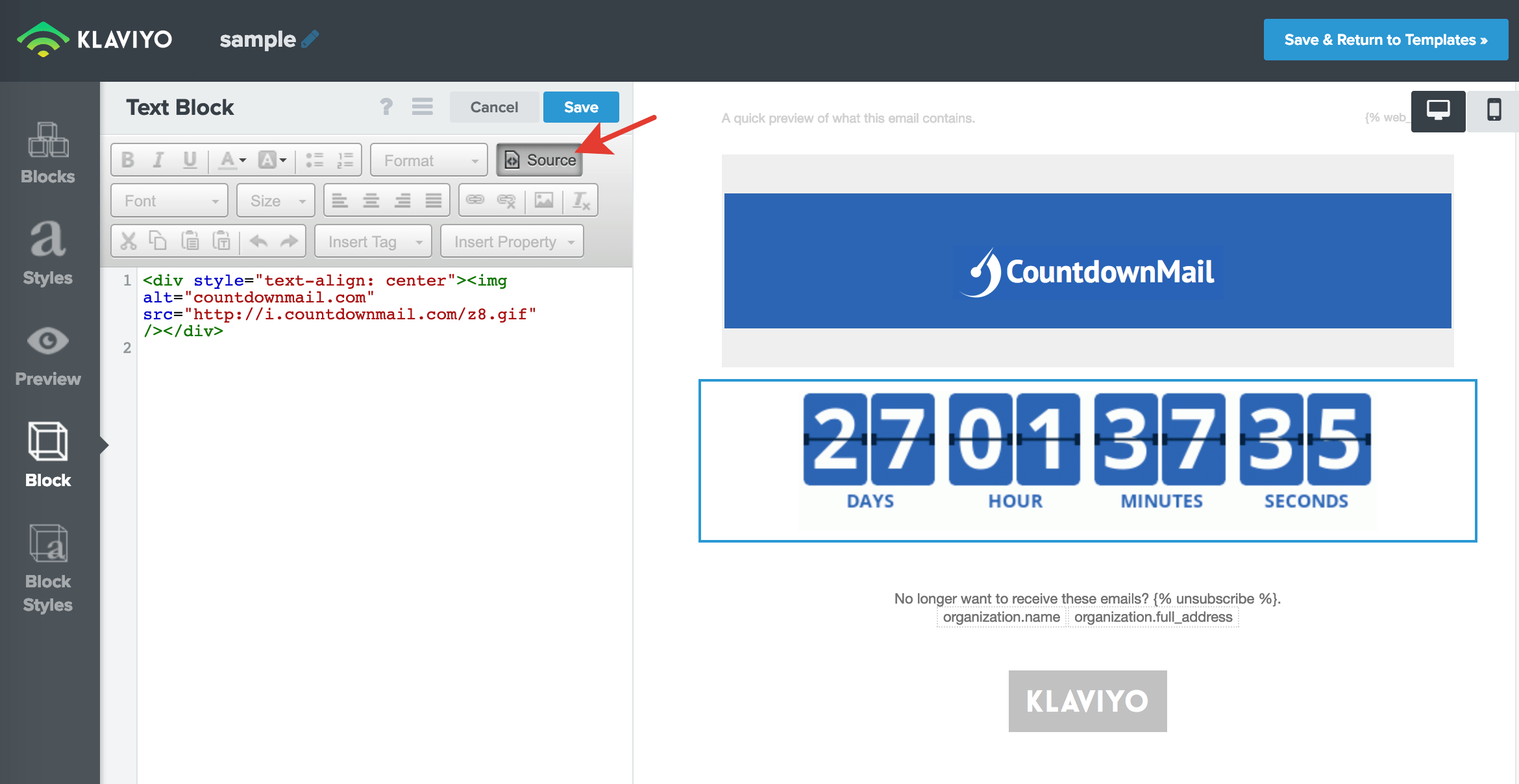 Include countdown timers in Constant Contact campaigns